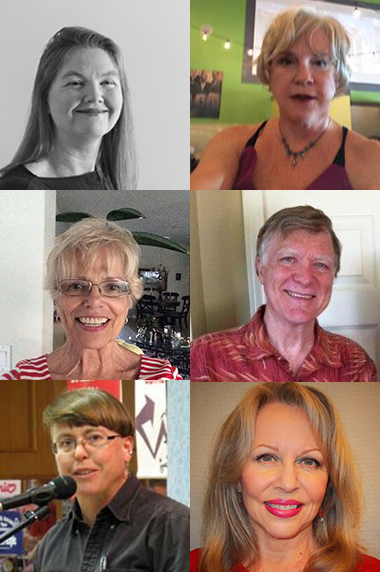 2015 Pushcart Nominees Leah Billingsley, Jane Chance, Sandra Boike Cobb, Michael Harty, Cindy Huyser, and Ricki Mandeville