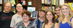 John Milkreit, Jerry Hamby, Priscilla Frake?, Cindy Huyser, Allyson Whipple (calendar co-editor), Carol Munn, and Lesley Clinton