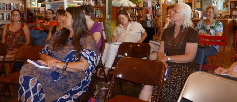 Participants in Jenny Browne's workshop.