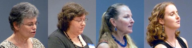 Poets Ann Howells, Catherine L'Herisson, Katherine Durham Oldmixon, & Kelsey Erin Shipman