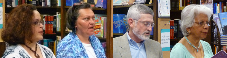 Poets Laura Peña, Elena Radulescu, Gary Rosin, & Shubh Schiesser