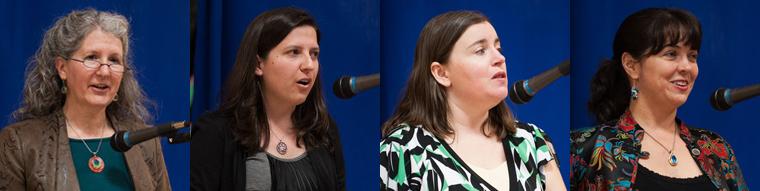 Poets Beth Honeycutt, Carie Juettner, Elizabeth Kropf, & Nikki Loftin.
