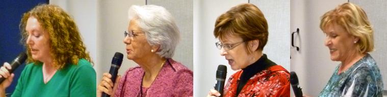 Poets Susan Rooke, Shubh Bala Schiesser, Jan Spence, & Mary Bryan Stafford