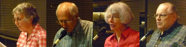Poets Jean Donaldson Mahavier, Michael Owens, Sandi Stromberg, & Patrick Allen Wright.
