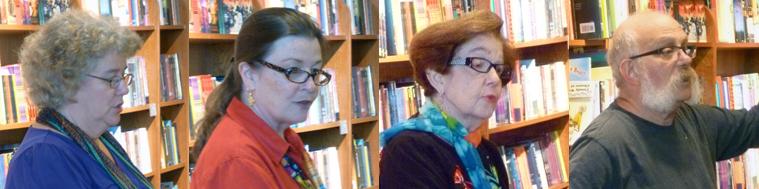 Poets Sally Clark, Martha K. Grant, Susan Langan, & Jim LaVilla-Havelin