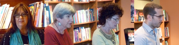 Poets Darla McBryde, Lianne Mercer, Sheila Tingley Moore, & Graham Oliver